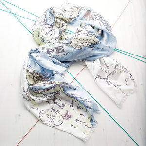 Map Of Europe Silk Scarf - scarves