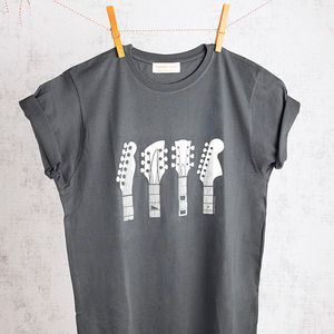 Guitar Headstocks T Shirt - men's fashion