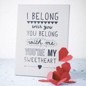 'I Belong With You' Lumineers Print - paintings & canvases