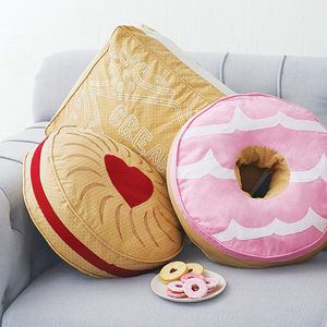 Biscuit Cushion - bedroom