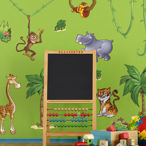 Childrens Jungle Animals Wall Stickers Small Pack