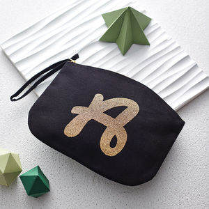 Glitter Initial Clutch - for friends