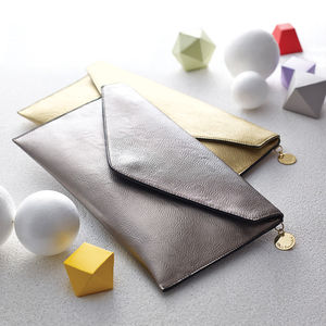 Personalised Metallic Clutch Bag - gifts for her