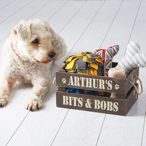 Personalised Pet Treat And Toy Crate - home accessories