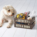 Personalised Pet Treat And Toy Crate