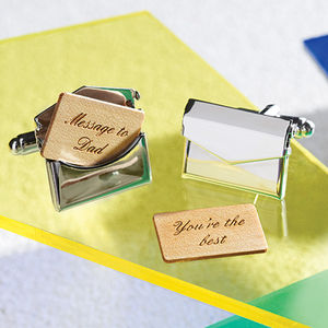 Personalised Envelope Cufflinks - last-minute christmas gifts for him