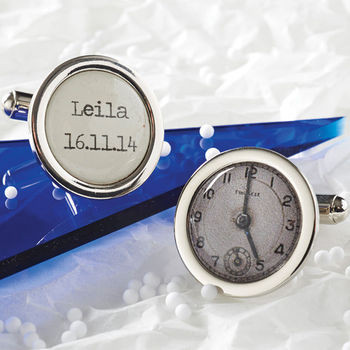 Personalised Special Time Cufflinks