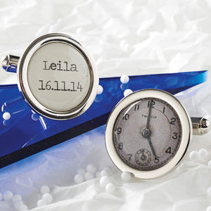 Personalised Special Time Cufflinks - personalised