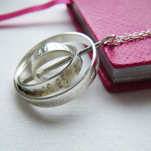 'The Day My Life Changed' Three Ring Necklace - gifts for mothers