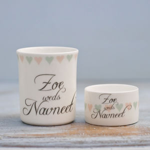 Personalised China Tea Light Holder