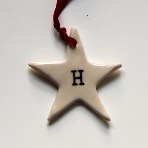 Star Initial Christmas Decoration - view all decorations