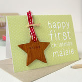 Personalised First Christmas Keepsake Card - cards