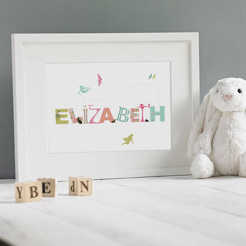 Personalised Girl's Name Print