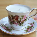 'Robin' Vintage Teacup Candle