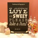 Personalised 'Love Is Sweet' Wedding Table Decoration