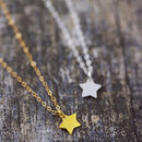 Tiny Star Necklace On Bridesmaid Card