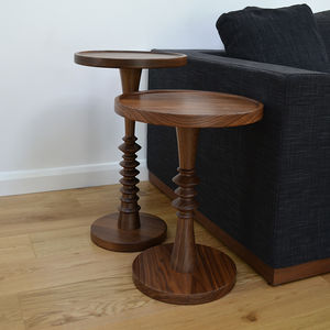 Walnut Turned Occasional Table - side tables