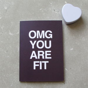 Omg You Are Fit Valentine's Day Card - wedding, engagement & anniversary cards