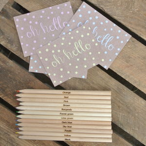 Colour Quoted Colouring Pencil Set - stationery