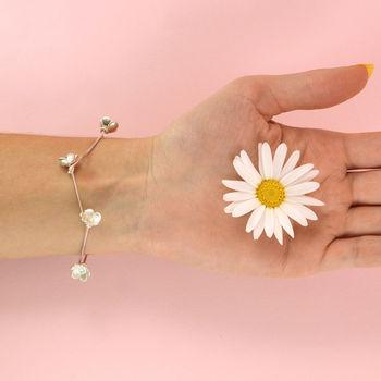 Daisy Chain Silver Bracelet
