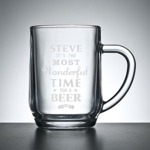Personalised Christmas Beer Glass - kitchen