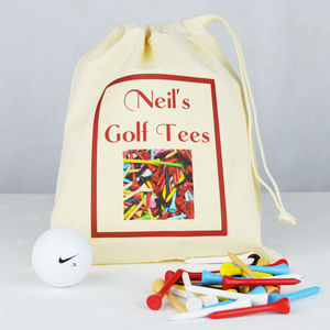 Personalised 'Golf Tee' Bag