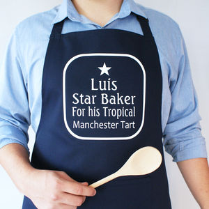 Personalised Star Baker Apron - aspiring chef