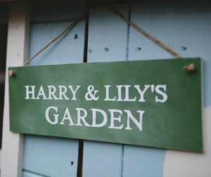 Personalised Garden Sign - hanging decorations