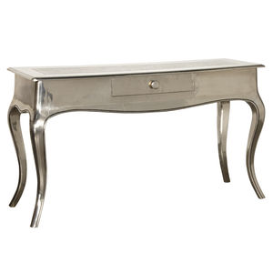 Shiny Silver Console Table - side tables