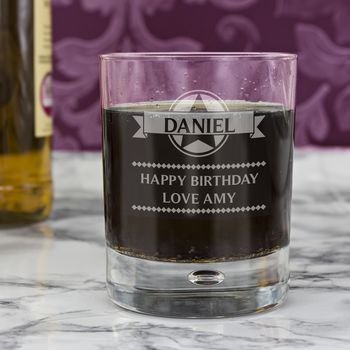 Diamond Personalised Bubble Short Glass