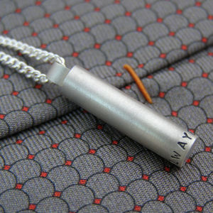 Personalised Bullet Pendant - men's jewellery