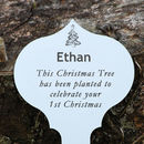 Personalised Engraved Christmas Tree Plaque