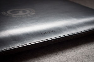 Personalised Leather And Wool Sleeve For Mac Book