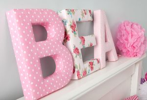 Fabric Letters - personalised birthday gifts