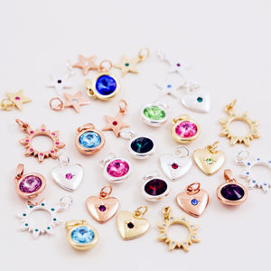 J + S Jewellery Necklaces Add On Birthstone Charms - charm jewellery