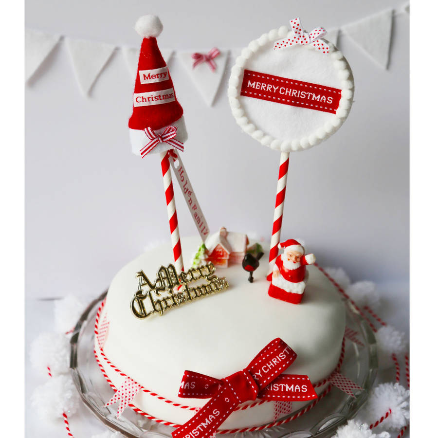 christmas cake decorations and toppers by buttongirl designs kKvXkM7n