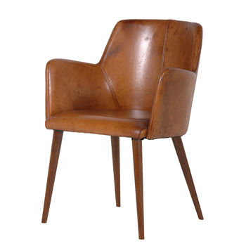 Leather Office Chair In Brown