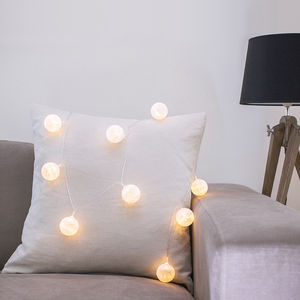 Cotton Ball Fairy Lights - room decorations