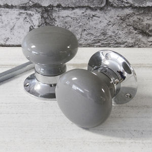 Grey Internal Turning Mortice Door Knobs