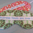 Shh… Funny Eye Mask.. Add Your Name/Slogan. Gift Boxed