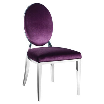 Dining Chair In Silver And Purple