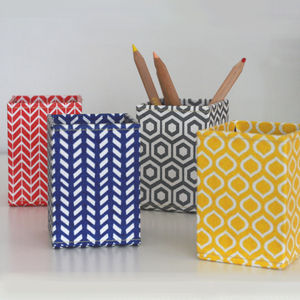 Recycled Geometric Print Pen Pot - view all sale items