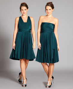 Forest Green Multiway Dress - women's fashion