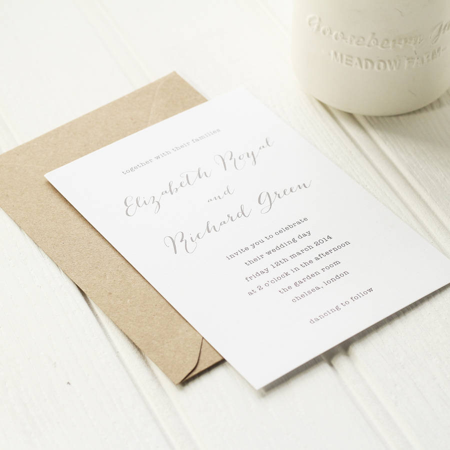 not on the high street winter wedding invitations%0A Typewriter Wedding Invite  wedding styling