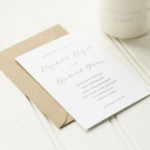 Typewriter Wedding Invite - modern calligraphy for weddings