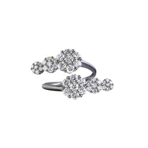 Azira Black Double Cluster Ring