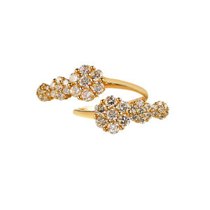 Azira Gold Double Cluster Ring - rings