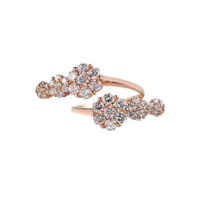 Azira Pink Gold Gold Double Cluster Ring - rings