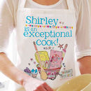Personalised 'Exceptional Cook' Apron