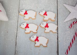 Christmas Polar Bear Biscuit Gift Set